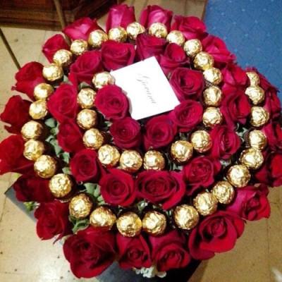 Букет роз Ферейро 41 шт