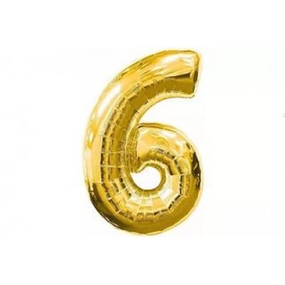 Гелиевый шар Цифра 6