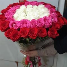 """Букет роз """"Колечко"""" 61 шт"""