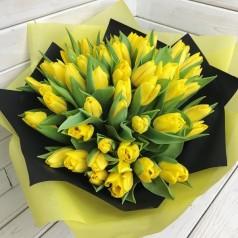 Букет тюльпанов Лимонный