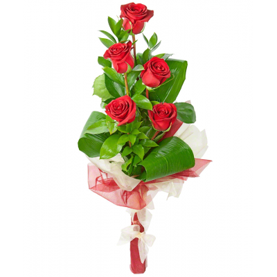 Композиция Каскад (5 роз)