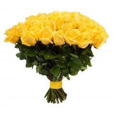 Листья жёлтые (35 роз)