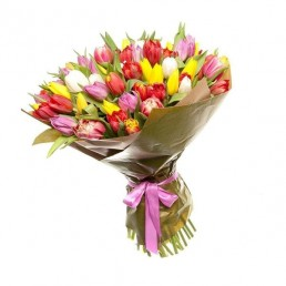 Букет тюльпанов Пестрый