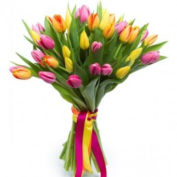 Букет тюльпанов Праздничный