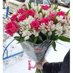 """Букет цветов """"Зимушка"""" 21 шт"""