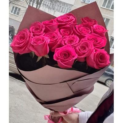 """Букет розовых роз """"Роза Пинк"""" 15 шт"""
