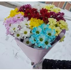 """Букет хризантем """"Зимние цветы"""" 11 шт"""