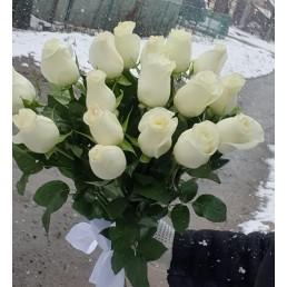 """Белые розы """"Счастье моё"""" 11 шт"""