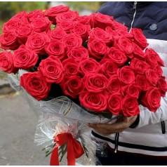 """Букет красных роз """"Юбилейная"""" 55 шт"""