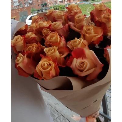 """Букет роз """"Рыжики """" 23 шт"""