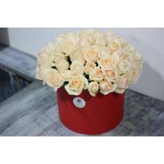Букет Шляпная (51 роза)