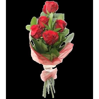 Беззаботная юность (красные розы 5 шт)