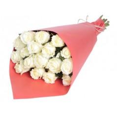 Букет белых роз Венделла 21 шт