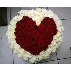 Букет Сeрдце Радость (101 роза)